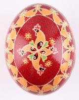 hed and rooster chicken egg pysanka